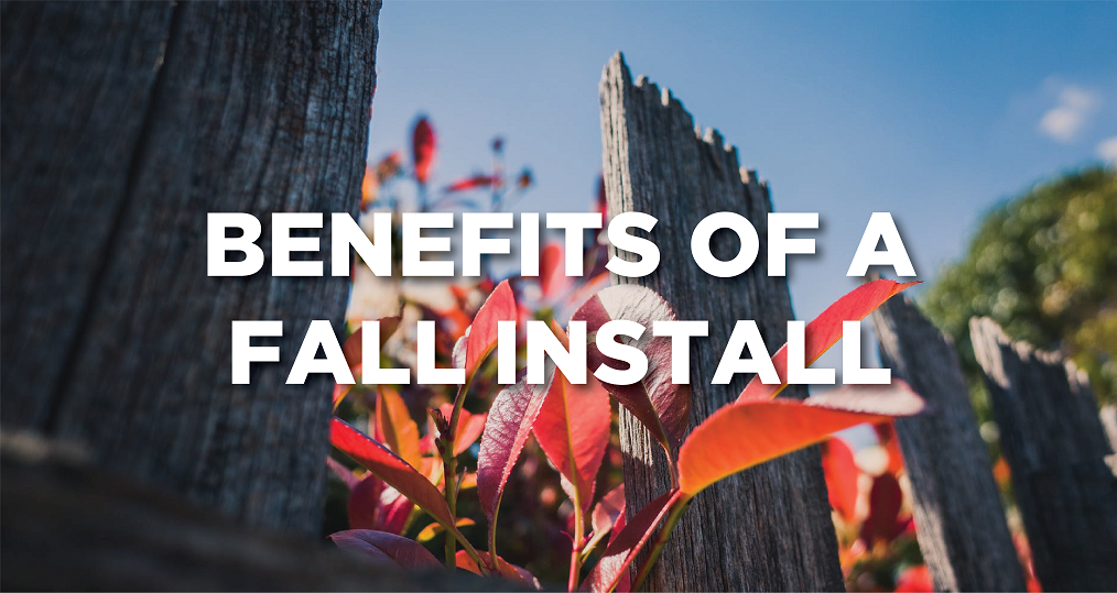 Benefits to a Fall Install